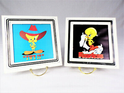 "Vintage Looney Tunes Tweety Bird ""FEARLESS "" TWY IT""  Framed Carnival  Prints"