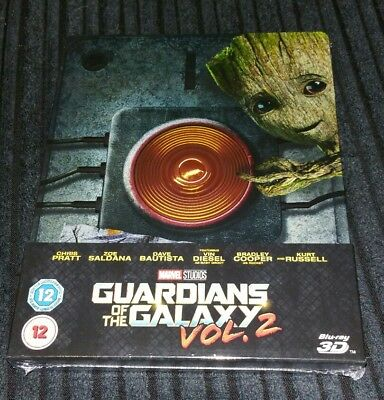 Guardians Of The Galaxy Vol. 2, 3D Blu-Ray Zavvi exclusive Steelbook. New sealed