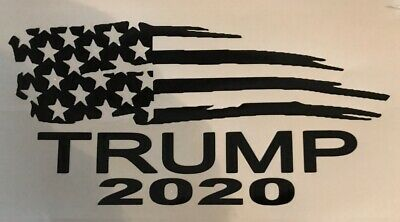 President Donald Trump Flag 2020 Vinyl Decal Sticker Car Truck