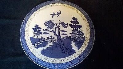 Lovely Cake Plate. Royal Doulton 1981. Booths `Real Old Willow` Design.t.c.1126.