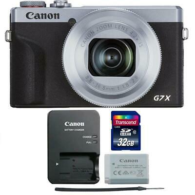 Canon PowerShot G7 X Mark III Digital Camera Silver with 32GB Memory Card
