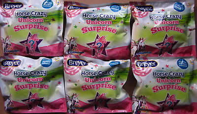 Breyer 2018 Horse Crazy Mystery Unicorn Surprise Stablemate Lot of 6 ~ Unopened!