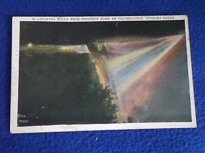 Postcard ~Prospect Park ~ Niagara Falls NY ~ Hammond IN ~ With Stamp 1938