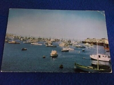 Postcard ~ Harbor ~ Monterey CA ~ WI ~ with Stamp 1954