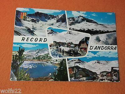 Postcard ~ Record D'andorra ~ Sioux City Iowa ~ with Stamp 1963