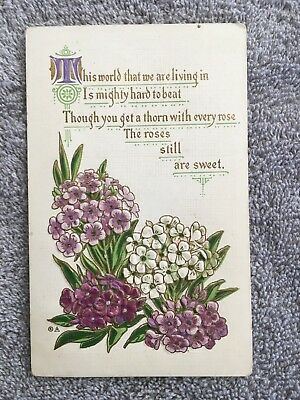 Postcard ~ Roses still are Sweet ~ with Stamp 1911