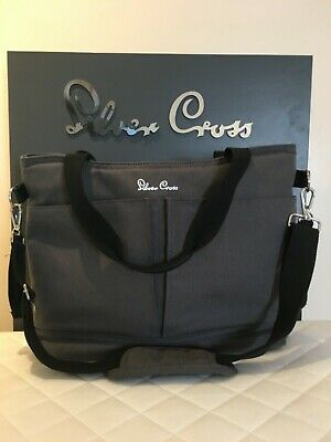 SILVER Cross Changing Bag Clean Condition flint Pursuit bag