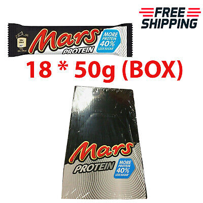 MARS PROTEIN BAR 18 x 50g BARS - HIGH PROTEIN SNACKS [More Protien - Less Sugar]