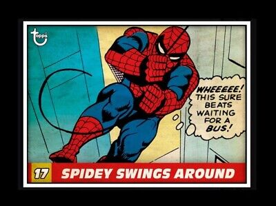 Topps MARVEL COLLECT DIGITAL Card VINTAGE PANELS SPIDEY SWINGS AROUND #6 17