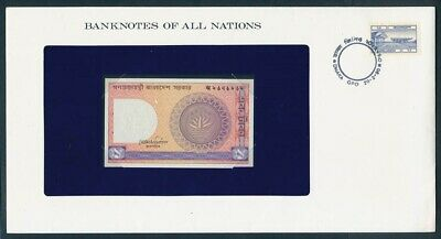 """World: 1973-83 Banknote/Stamp Cover """"SET 8 DIFFERENT"""" Banknotes of all Nations"""