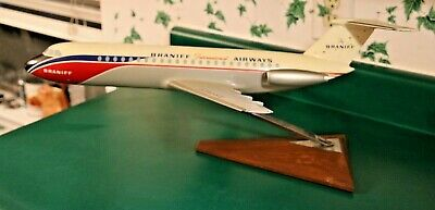 BRANIFF International Airways BAC 1-11 Aircraft Desk Top Model w/Wing Span 22""
