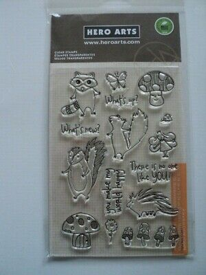 Hero Arts Poly Clear Clear Stamps Set Woodland Creatures Mx261 Bnip *Look*