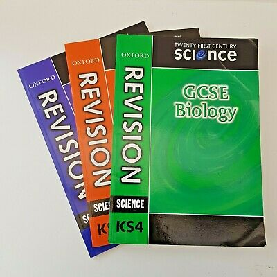 Oxford Revision Science Books GCSE Physics Chemistry Biology