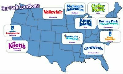 2 E-Tickets to any Cedar Fair Theme Park: Cedar Point, Knotts Berry Farm + more