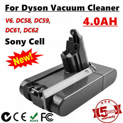 4000mAh Sony Cell Battery For Dyson V6 DC58 DC59 DC61 DC62 Animal Vacuum Cleaner