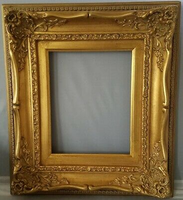 Abbé Classic French Louis XV style,antique gold-leaf W/ gold liner wood frame.