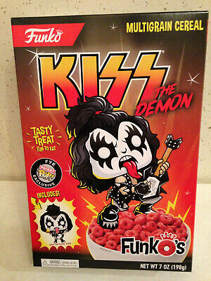 Funko Kiss The Demon Funkos Cereal With Gene Simmons Pocket Pop Sealed Box New