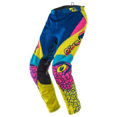ONEAL Mayhem Crackle 91 Motocross Hose 2020 gelb weiss blau ATV Herren Enduro MX