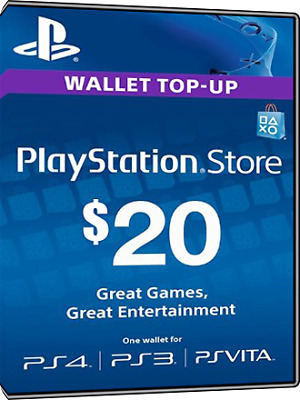 $20 USD PlayStation Network Card - Digital Code - N/A