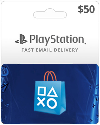 PlayStation Card $50 Digital Code Inst