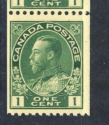 1915-24  #131 1¢ King George V Admiral Coil Issue Wet Printing F-Vfnh