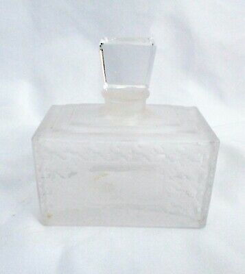 """Frosted Glass Perfume 3"""" Tall Bottle Decanter With Stopper"""