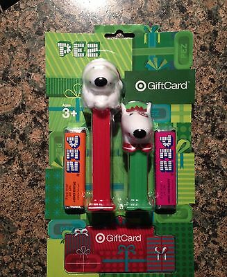 Pez Target Bullseye 2015 Gift Card Set - New On Card