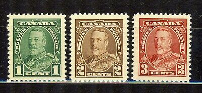 1935 #217(1¢) #218(2¢) & #219(3¢)  King George V Pictorial Vfnh