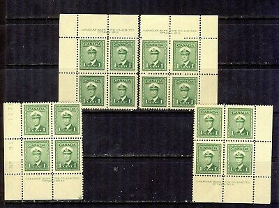 1942 #249 1¢ King George Vi War Issue Ms Plate Block #31 F-Vfnh