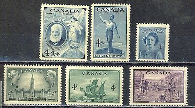 1947-49 #274/#283 King George Vi  Six(6) Yearly Commemoratives  F-Vfnh