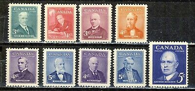 1951/1961 #303/393 Kg Vi & Qe Ii  Nine(9) Prime Minister Commemoratives  F-Vfnh
