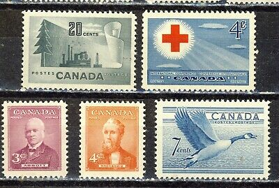 1952 #316-#320 King George Vi  Five(5)  Commemoratives  F-Vfnh
