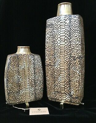 UTTERMOST REPTILA • Pair Handcrafted Textured Ceramic Vases • Modern Decor • NWT