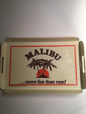 Malibu Rum Serving Tray Barware Vintage