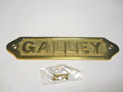 Solid Brass Galley Door Sign Or Decorative Wall Plaque New Nautical Beach Boat