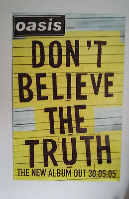 OASIS Large Promo Poster 'Don't Believe The Truth' 2005 Noel Liam Gallagher