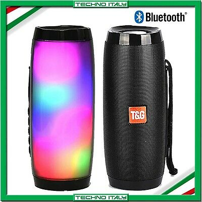 ✅ Cassa Speaker Bluetooth Luce Led Rgb Ricaricabile 10W Altoparlante Wifi Radio✅