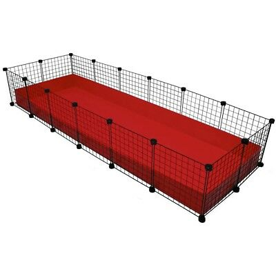 C&C C C guinea pig cage 16 panels grids and 32 connectors 210cm x 70cm Playpen