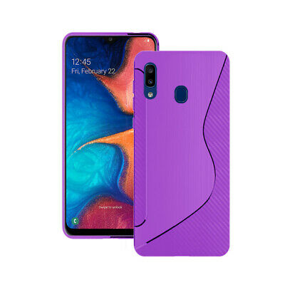 Case For Samsung Galaxy A20e 2019 S-Line Silicone Gel Skin Various Colours Cover
