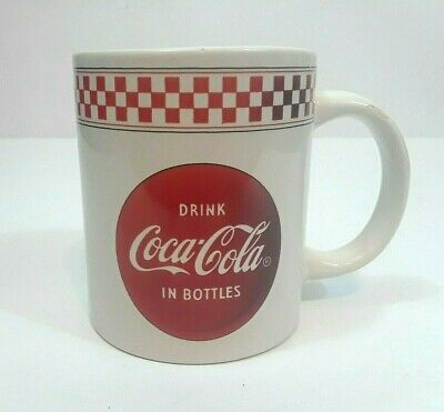 Vintage Collectors Coca Cola Brand Coffee Mug by Gibson Red & White