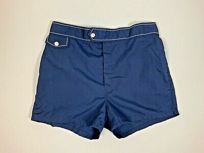 Vintage SWIM Shorts TRUNKS Jantzen SIZE 36 S/M Retro European Navy