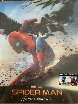 Blu Ray steelbook SPIDERMAN HOMECOMING Filmarena Edition sous cello