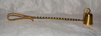 Solid Brass Candle Snuffer with Twisted Handle Made in Sweden