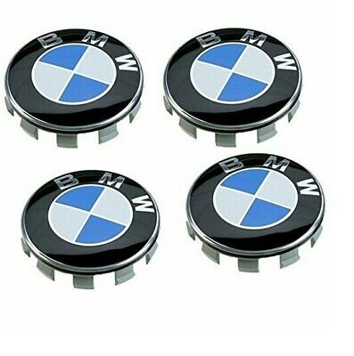 4x BMW 60mm Wheel Centre Caps Hub Cap Set of 4 3D Logo High Quality BMW blue