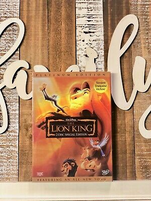 The Lion King DVD, 2003, 2-Disc Set, Platinum Edition Disney Brand New Slipcover
