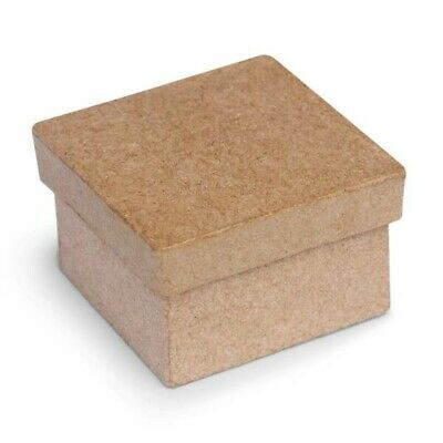 500 x PAPER MACHE CRAFT SMALL BOX SQUARE WITH LID $99.95 for 500 boxes
