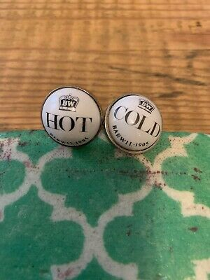 Barwil Vintage Looking Hot And Cold Faucet Cufflinks