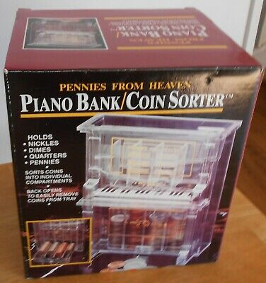 Pennies from Heaven Plastic Piano Bank Coin Sorter NRFB
