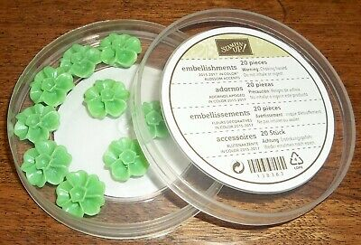 Stampin Up Retired IN COLOR BLOSSOM ACCENTS Cucumber Crush 9 Pieces RARE HTF