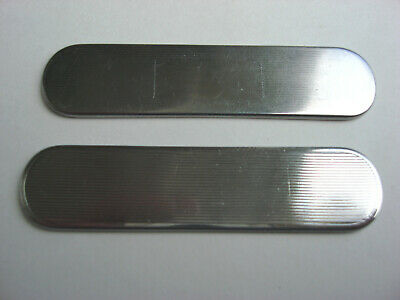 VICTORINOX 58mm Stainless Steel SCALES/HANDLES PARTS for Broker / Ensign (2)